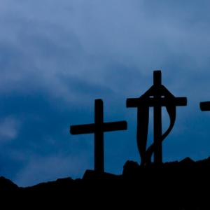 Three wooden crosses, mossolainen nikolai / Shutterstock.com