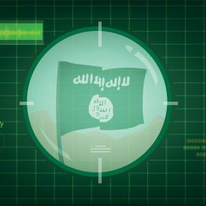 ISIS flag in target scope, Crystal Eye Studio / Shutterstock.com