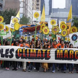 Participants in the People's Climate March in NYC, Sunday September 21. Image vi