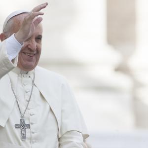 Pope Francis in October in St. Peter's Square. giulio napolitano / Shutterstock.