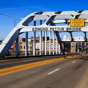 Historic Edmund Pettus Bridge in Selma, Ala., loneroc / Shutterstock.com