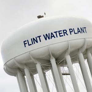 Flint, Mich., water tower.