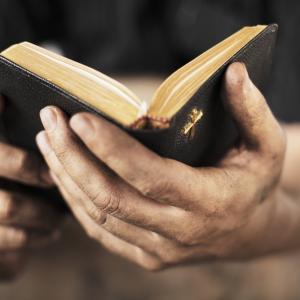Hands holding a bible. Stocksnapper/Shutterstock.com