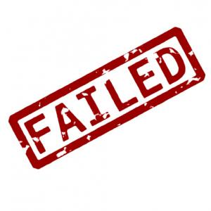 Rubber ink 'Failed' stamp, Dimitrios Kaisaris / Shutterstock.com