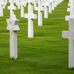 Interfaith grave markers, cofkocof, Shutterstock.com