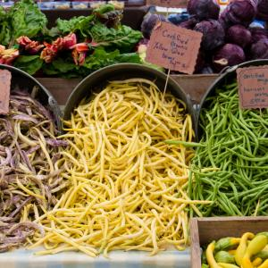 Produce at Farmer's Market photo, Charles Amundson, Shutterstock.com