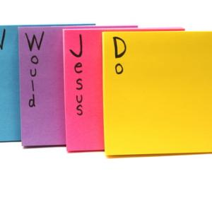 What Would Jesus Do? Post-its. Keith Bell / Shutterstock.com