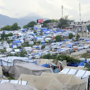 Tent city in Port-au-Prince arindambanerjee / Shutterstock.com