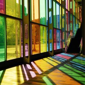Modern stained glass, Chris Howey/ Shutterstock.com