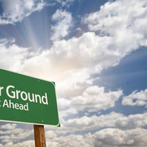 Higher ground sign, Andy Dean Photography / Shutterstock.com