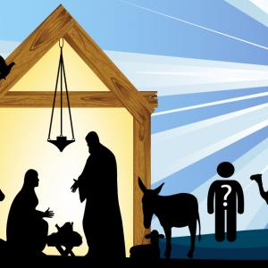 Nativity Scene Illustration, Shutterstock.com