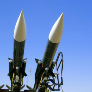 Combat missiles pointed to the sky, vician / Shutterstock.com
