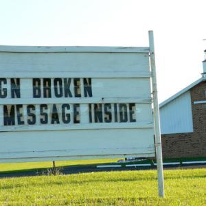 (Church sign image by Mark Lehigh/Shutterstock)
