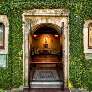 Open church door photo by Nagel Photography/ Shutterstock.com