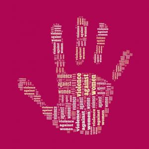 Stop Violence Against Women word cloud, mypokcik / Shutterstock.com