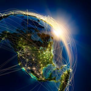 Globalization & technology illustration, Anton Balazh / Shutterstock.com