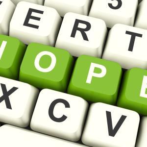 """Hope"" spelled out on a keyboard. Image via Stuart Miles/shutterstock.com"