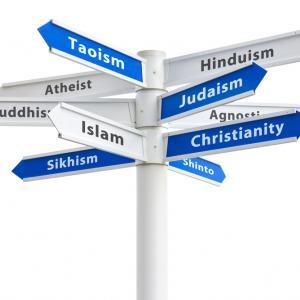 Religious crossroads, Ryan DeBerardinis/Shutterstock.com