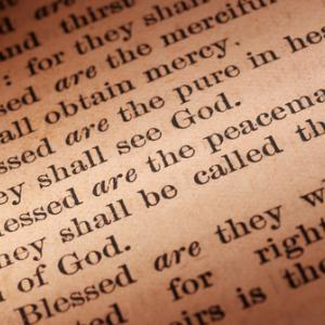 Blessed are the peacemakers Bible passage, Wellford Tiller / Shutterstock.com