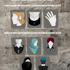 An image released by the Quebec government showing which religious symbols would