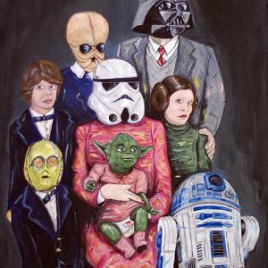 Star Wars family portrait via Steven Quinn / Star Wars blog.