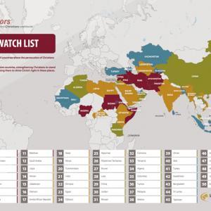 """Open Doors USA's 2015 """"World Watch List."""" Image via Open Doors / RNS"""