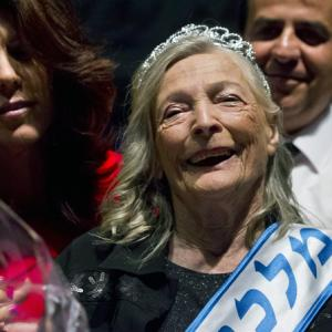 Shoshana Colmer smiles after winning the 'Miss Holocaust Survivor Beauty Contest