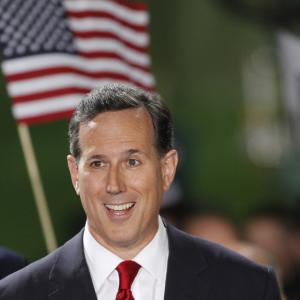 U.S. Sen. Rick Santorum after formally declaring his candidacy on May 27, 2015.