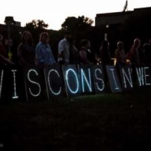 Aug. 5, 2012 vigil in Wisconsin, RNS photo by Lacy Landre