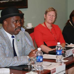 Chief Jonathan Eshiloni Mumena (far left). Photo courtesy RNS.