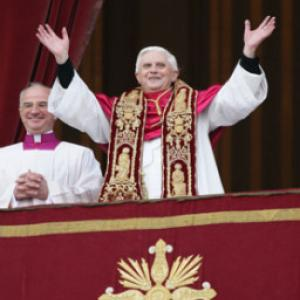 Pope Benedict XVI in 2005. RNS photo by Grzegorz Galazka.