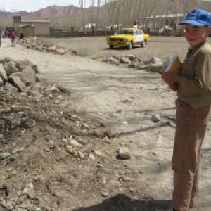 Zekerullah going to school in Bamiyan. Photo courtesy Kathy Kelly