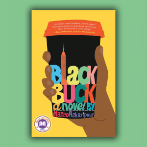 The cover of Black Buck is a coffee cup with the words Black Buck in colorful letters.