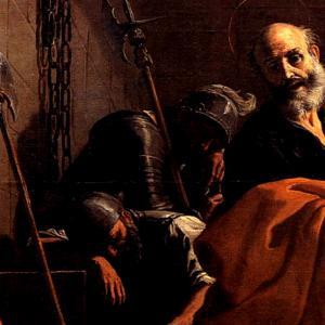 San Pietro liberato dal carcere, via Wikimedia Commons