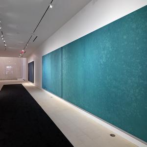 A long hallway shows Fujimura's art