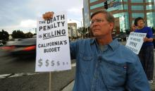 Anti-death penalty campaigner Alan Toy. MARK RALSTON/AFP/Getty Images