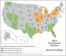 2012 Electoral College Map, Globe Turner, LLC / Getty Images