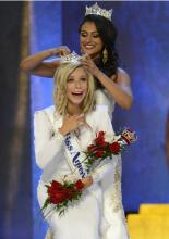 Miss America 2015 Kira Kazantsev and Miss America 2014 Nina Davuluri, via Disney