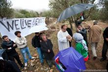 Palestinian Christians hold mass near Bethlehem to protest construction of Israe