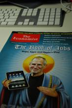 Steve Jobs The Economist cover, via Bill So / Flickr.com