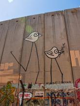 "Graffiti on the ""security wall"" that runs through Bethlehem. Via http://commons."