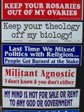 Atheist bumper stickers via Wiki Commons http://bit.ly/xFqYIO