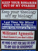 Atheist bumper stickers via Wiki Commons http://bit.ly/xFqYIO