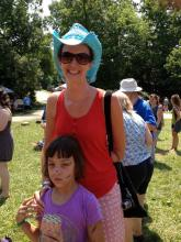 The author and her daughter at Wild Goos