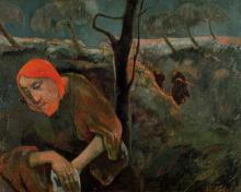 """The Agony in the Garden"" by Paul Gaugin, 1889. Via Getty Images."