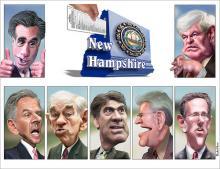 2012 NH Primary Candidates by DonkeyHotey via Wylio http://www.wylio.com/credits
