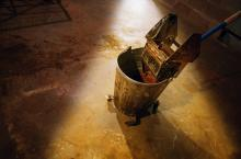 Custodian mop bucket, Design Pics/Darren Greenwood / Getty Images