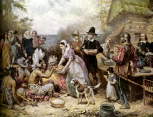 The First Thanksgiving by Jean Louis Gerome Ferris via Wiki Commons (http://bit.
