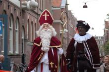 "Sinterklaas and Zwarte Piet (aka ""Black Pete"") in a holiday parade in Holland, 2"