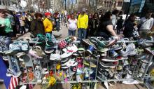 Boston Marathon Bombing Memorial, by H. Powers on Flickr.com.